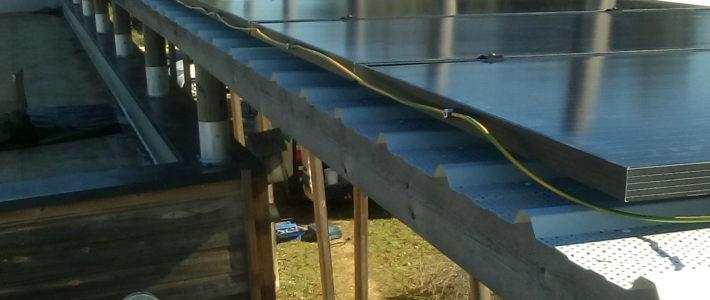 Travaux en cours pour la pergola photovoltaïque à la LPO Villeveyrac