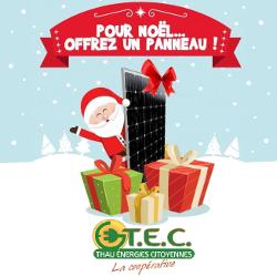 Pour Noël, participez à la transition énergétique sur votre territoire, offrez un panneau !