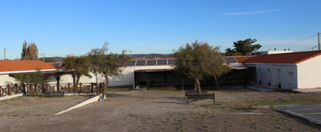 Les Mouettes Frontignan - montage photo du projet d'installation photovoltaïque